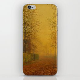 Evening Glow by John Atkinson Grimshaw iPhone Skin