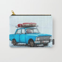 Blue Car Travels (Color) Carry-All Pouch