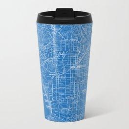 Los Angeles Street Map Metal Travel Mug