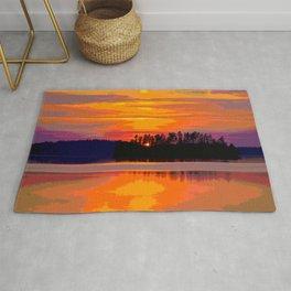Beautiful Sunset Landscape #decor #society6 #buyart Rug