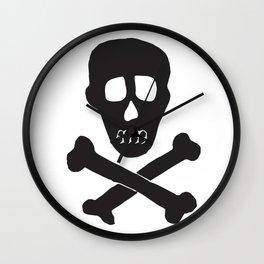 Skull & Crossbones Wall Clock