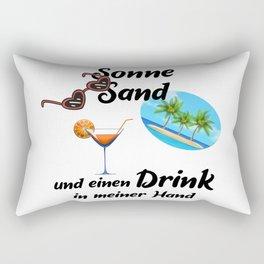 Sun Sand And A Drink Rectangular Pillow