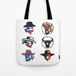Texas Outlaw Mascot Collection Tote Bag