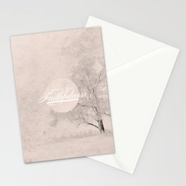 Great is Your Faithfulness - Lamentations 3:23 Stationery Cards