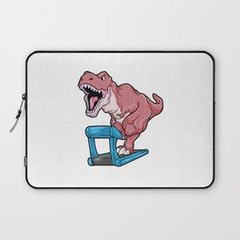 Dinosaur at Jogging on Treadmill Laptop Sleeve