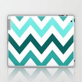 TRI-TONE TEAL CHEVRON Laptop & iPad Skin