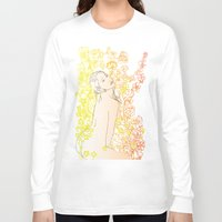 erotic Long Sleeve T-shirts featuring Floral Beauty  by Stevyn Llewellyn