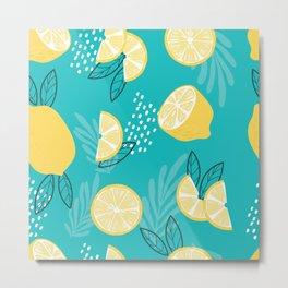 Lemon Pattern 08 Metal Print