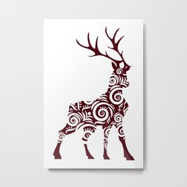 ornamental stag Metal Print