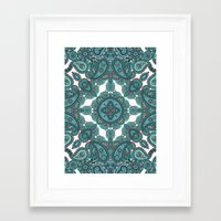 paisley Framed Art Prints featuring paisley by gtrappdesign