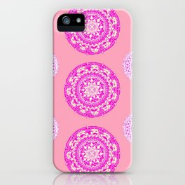 Salmon, Pink, and Purple Patterned Mandalas iPhone Case