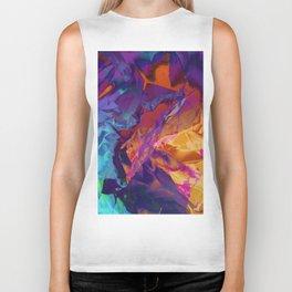 Dragon's Back. Dynamic, Blue, Purple and Orange Abstract. Biker Tank