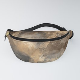 Stormy Abstract Art in Brown and Gray Fanny Pack