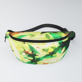 Bright glowing marsh golden stars on a light background in the projection. Fanny Pack
