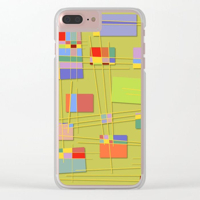 Abstract #47 Clear iPhone Case
