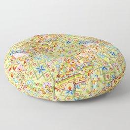 Sunshine Crazy Quilt (printed) Floor Pillow