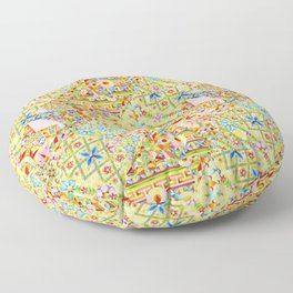 Sunshine Crazy Quilt (printed) Floor Pillow