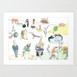 Inspired by Bosch Art Print