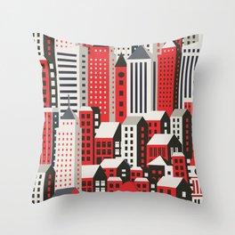 Urban city Throw Pillow