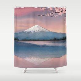 mt fuji Shower Curtain