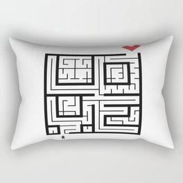The Path of Love Rectangular Pillow
