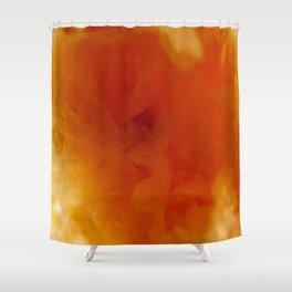 Textures (Orange version) Shower Curtain
