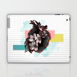 Flowers Bloom where the Heart Beats Laptop & iPad Skin