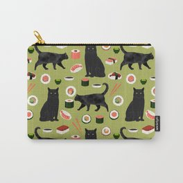 Black cat sushi cat breeds cat lover pattern art print cat lady must have Carry-All Pouch