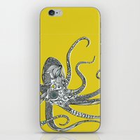 octopus iPhone & iPod Skins featuring Octopus by Rachel Russell