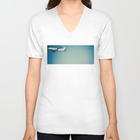 plane V-neck T-shirts featuring Plane by vientocuatro