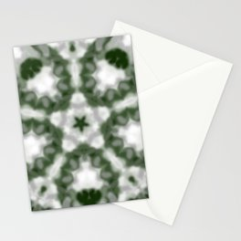 Green and White Kaleidoscope Stationery Cards