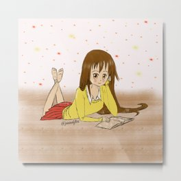 Reading is dreaming Metal Print