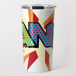 Comic Book Pop Art Sans BANG! Travel Mug