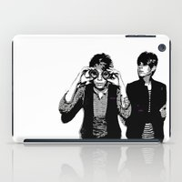 tegan and sara iPad Cases featuring Tegan & Tegan & Sara & Sara - Black by c.beanan