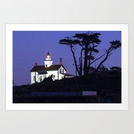 Battery Point Lighthouse after Sunset. Crescent City, California Art Print