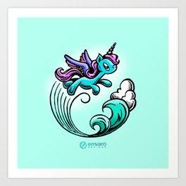 Kyrie the Unicorn Art Print