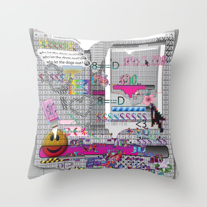 internetted2 Throw Pillow