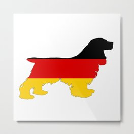 German Flag - Cocker Spaniel Metal Print