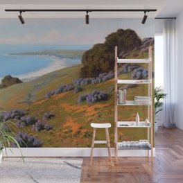 Bush Lupine and Poppies, Santa Barbara by John Marshall Gamble Wall Mural
