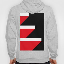 Red and White Parallelepipeds Floating in a very deep black space Hoody