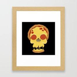 Deadly pizza Framed Art Print