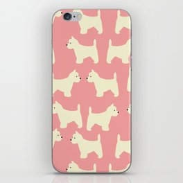 West Highland Terrier in pink iPhone Skin