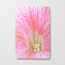 Inside the Flower Metal Print