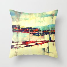 Warsaw III - abstraction Throw Pillow