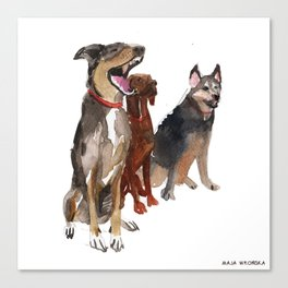 watercolor dog vol2 Pointer, Coonhound, Alaskan Canvas Print