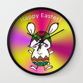 Easter Rabbit Wall Clock