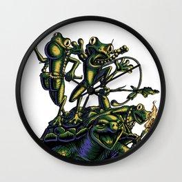 Warrior Frogs Wall Clock