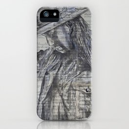 The Outlaw / Sheet music art iPhone Case