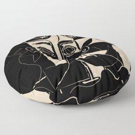 Picasso Woman's head #8 black line Floor Pillow