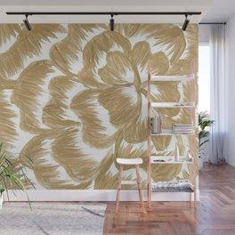 Golden Dahlia Flower Wall Mural